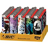 BIC Full Size Limited Special Edition Disposable Lighters Assorted Styles (50)