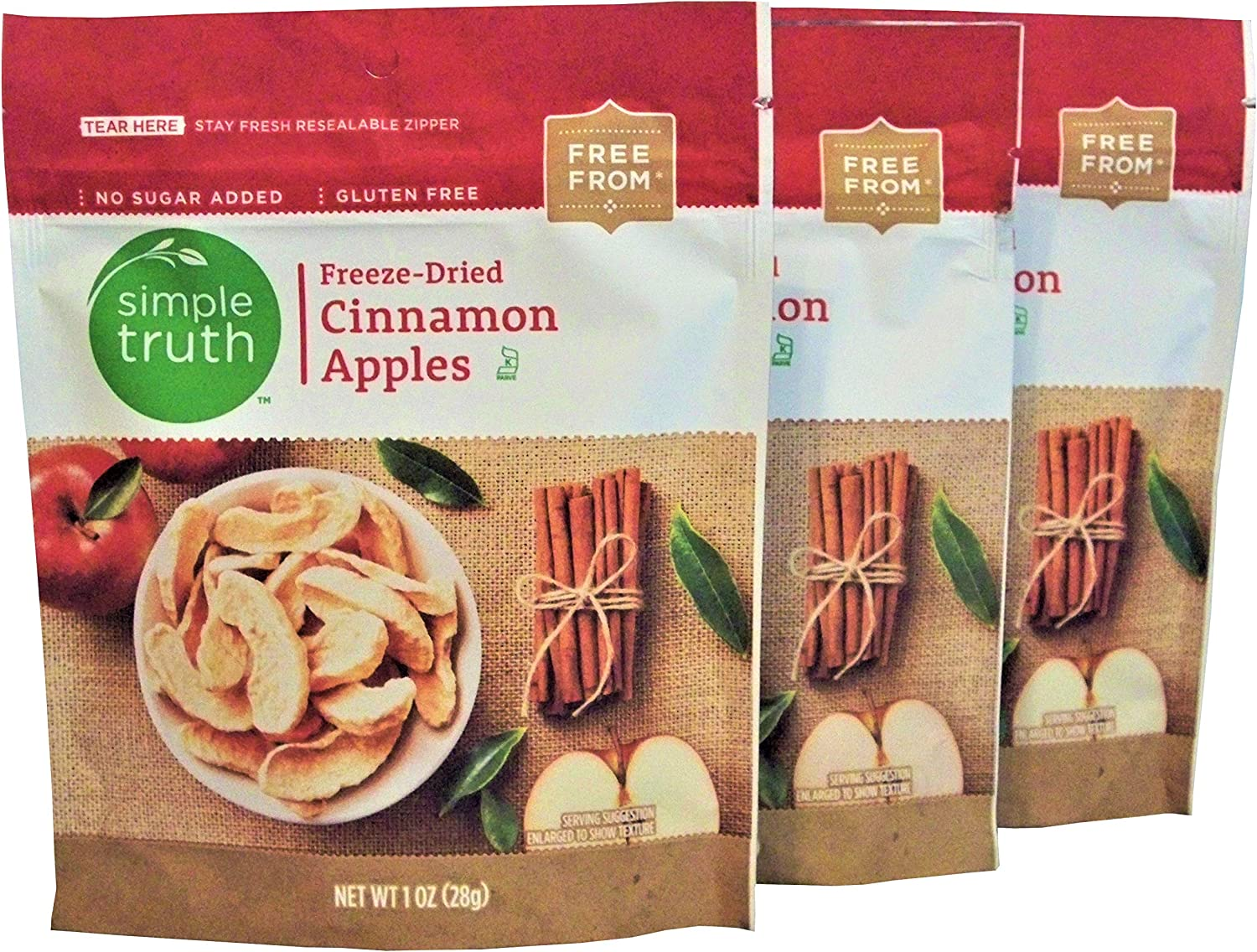 Simple Truth Freeze-Dried Cinnamon Apples 1 oz (3 Pack)