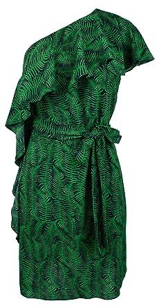 6706bc59cfc Michael Kors Women's Flounce Ruffle One-Shoulder Dress-FG-2 at Amazon  Women's Clothing store:
