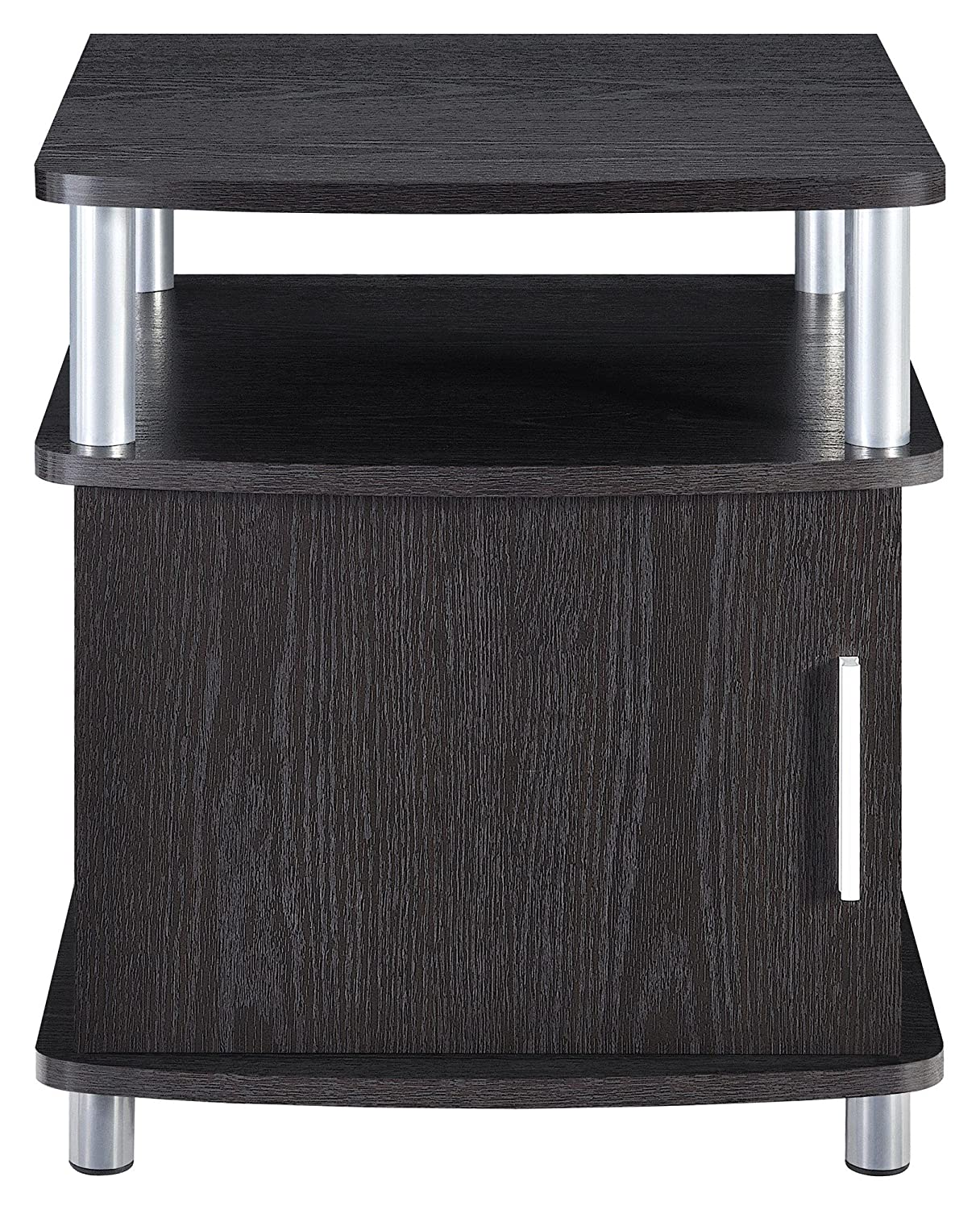 Amazon Altra Carson End Table With Storage Espresso Silver Kitchen Dining