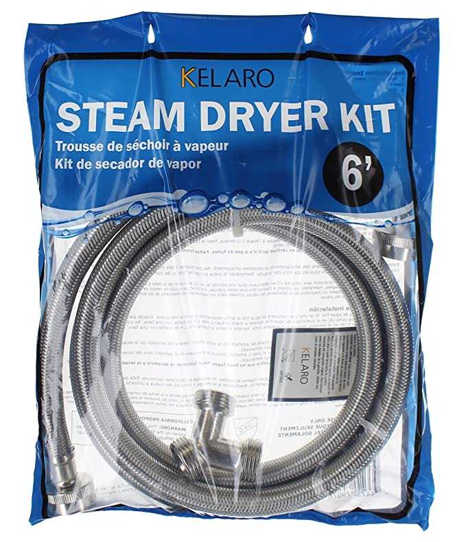 Amazon.com: Premium Steam-Dryer Installation Kit - Braided Stainless Steel, 6 ft: Home Improvement