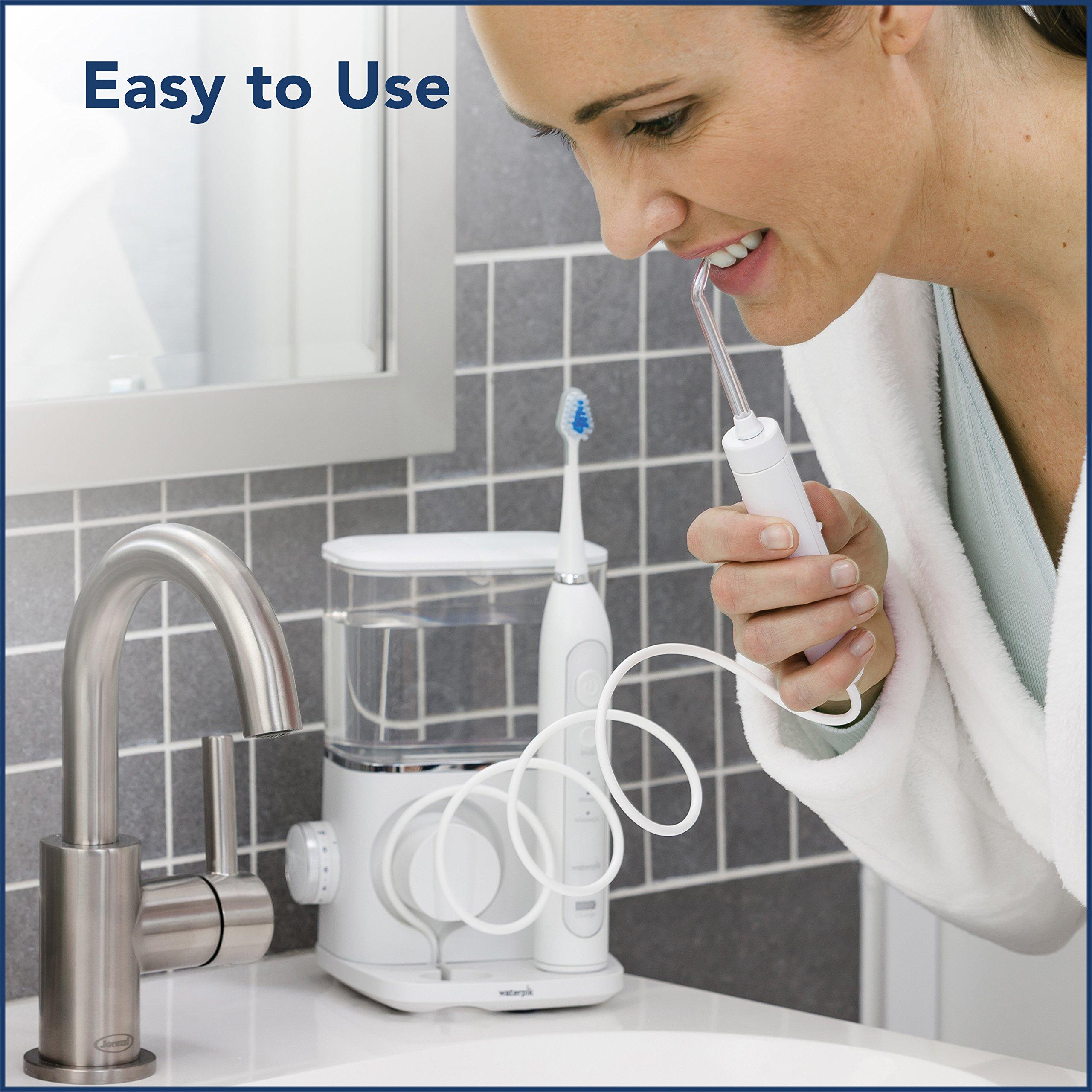 Waterpik Complete Care 9.0 Sonic Electric Toothbrush + Water Flosser, White by Waterpik (Image #2)