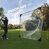 Kickster Academy Quick- Hit 8 Golf Driving/Chipping Rete - Ultra Portable Golf Rete - Giallo, 8 x 8 ft