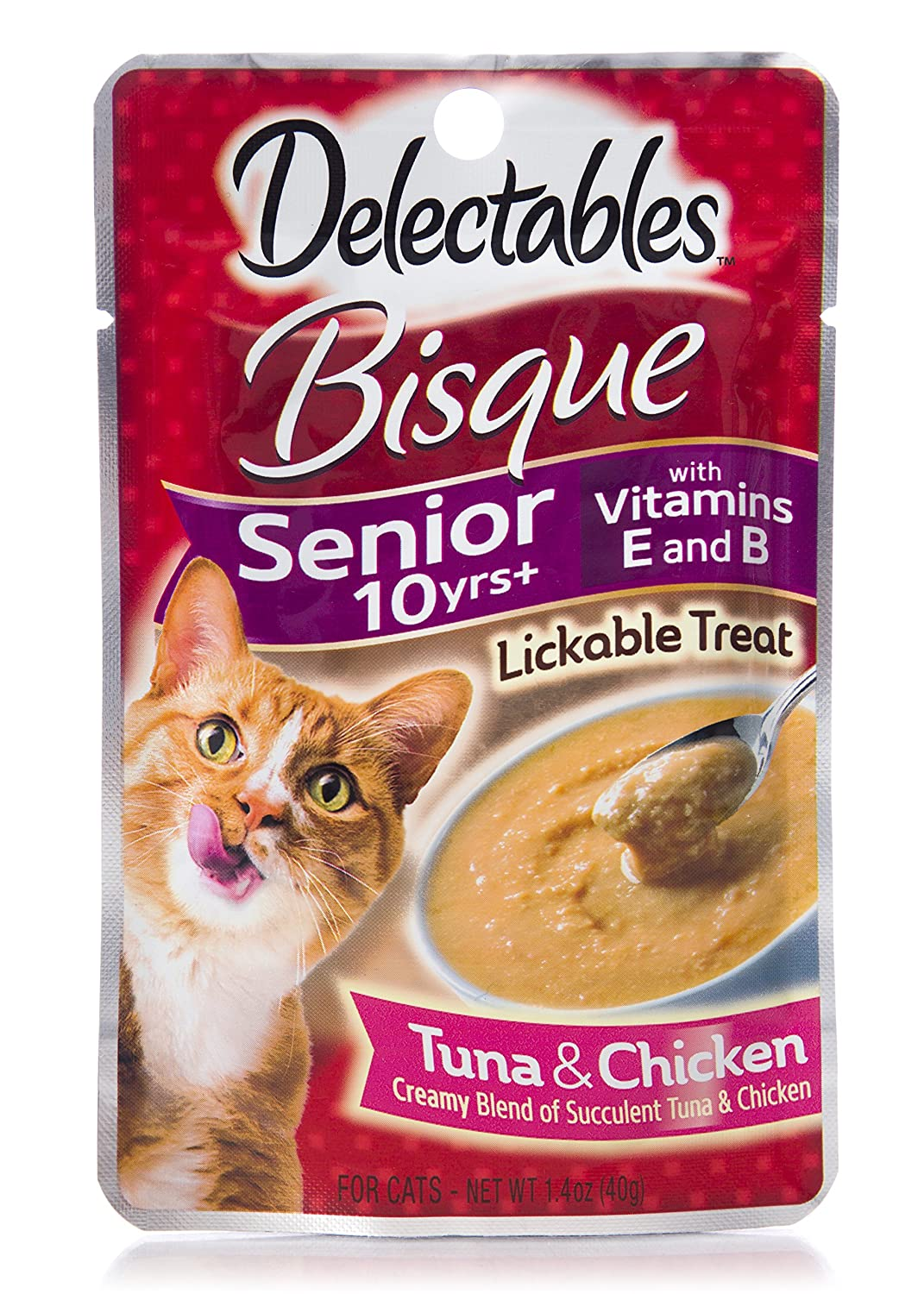 Delectables Senior Cat Treats.