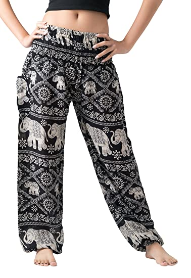 5753301f2d Bangkokpants Women's Harem Pants Bohemian Clothes Boho Yoga Hippie Pants  Smocked Waist