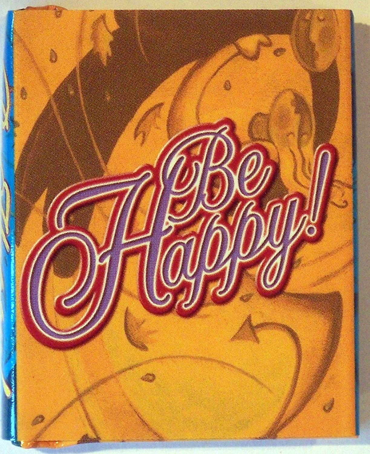 BE HAPPY MINI BOOK - MINIATURE NOVELTY BOOK CHRISTMAS STOCKING FILLER -  CHECK OUT THE OTHER MINI BOOKS IN MY AMAZON STORE