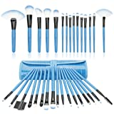 Amazon Price History for:32 Piece Mini Professional Makeup Brushes Set , Start Makers Make up Brushes Complete Travel Set(Blue)