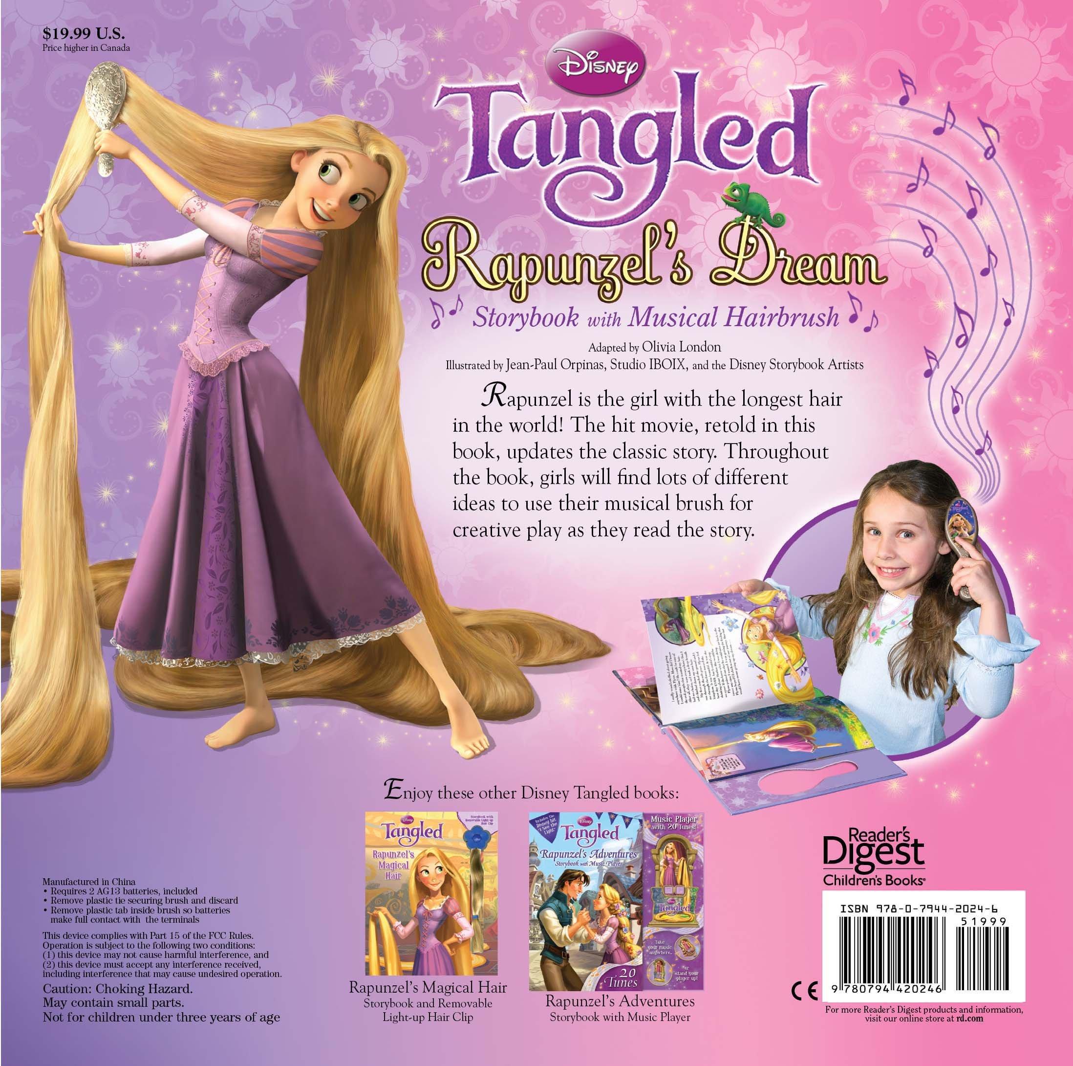 Disney Tangled Rapunzel S Dream Storybook With Musical Hairbrush Disney Storybook Artists Disney Princess 9780794420246 Amazon Com Books