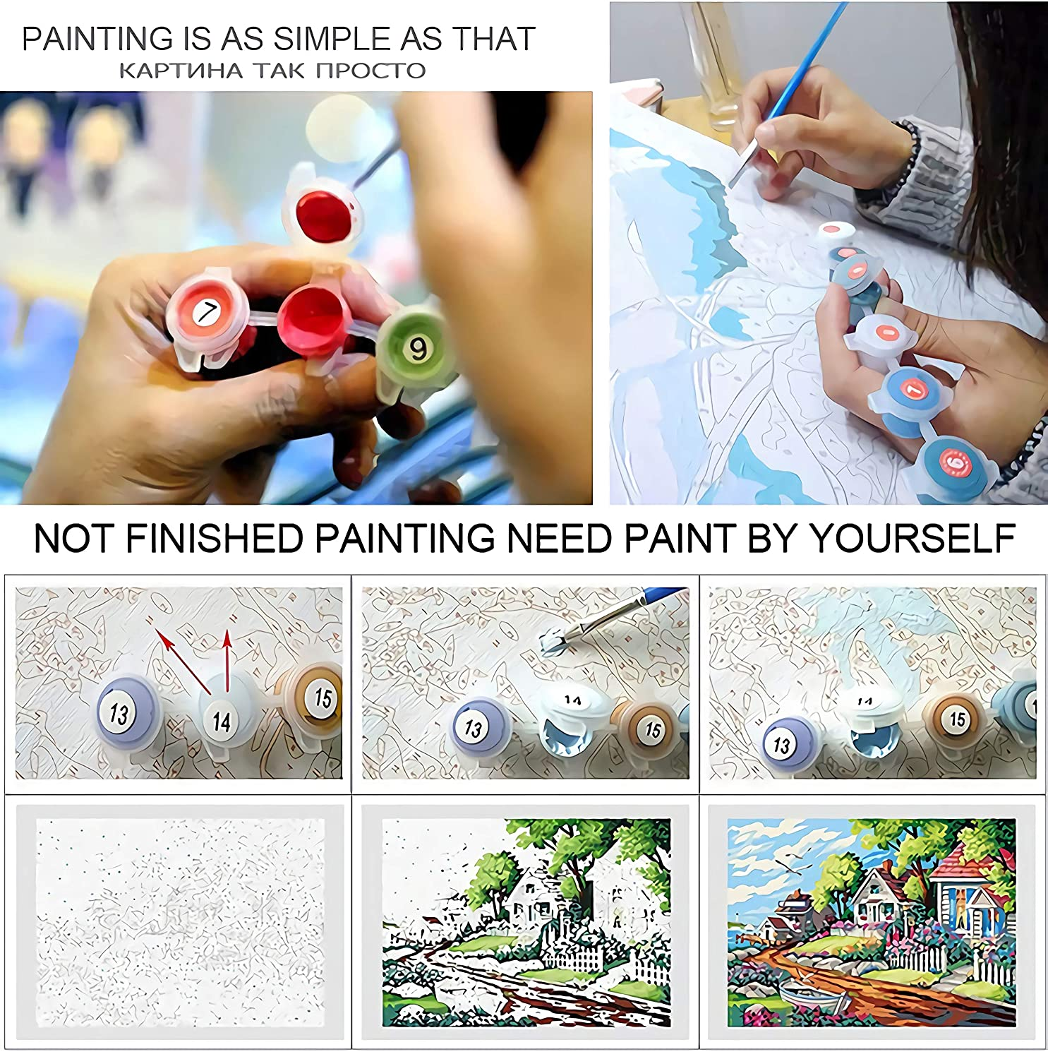 No Frame Paint By Numbers For Adults Kids Diy Oil Painting Paintworks Cats Butterfly Animals Decorative Artistic Personality Casual Game Fun Toy Suitable For Family Friends