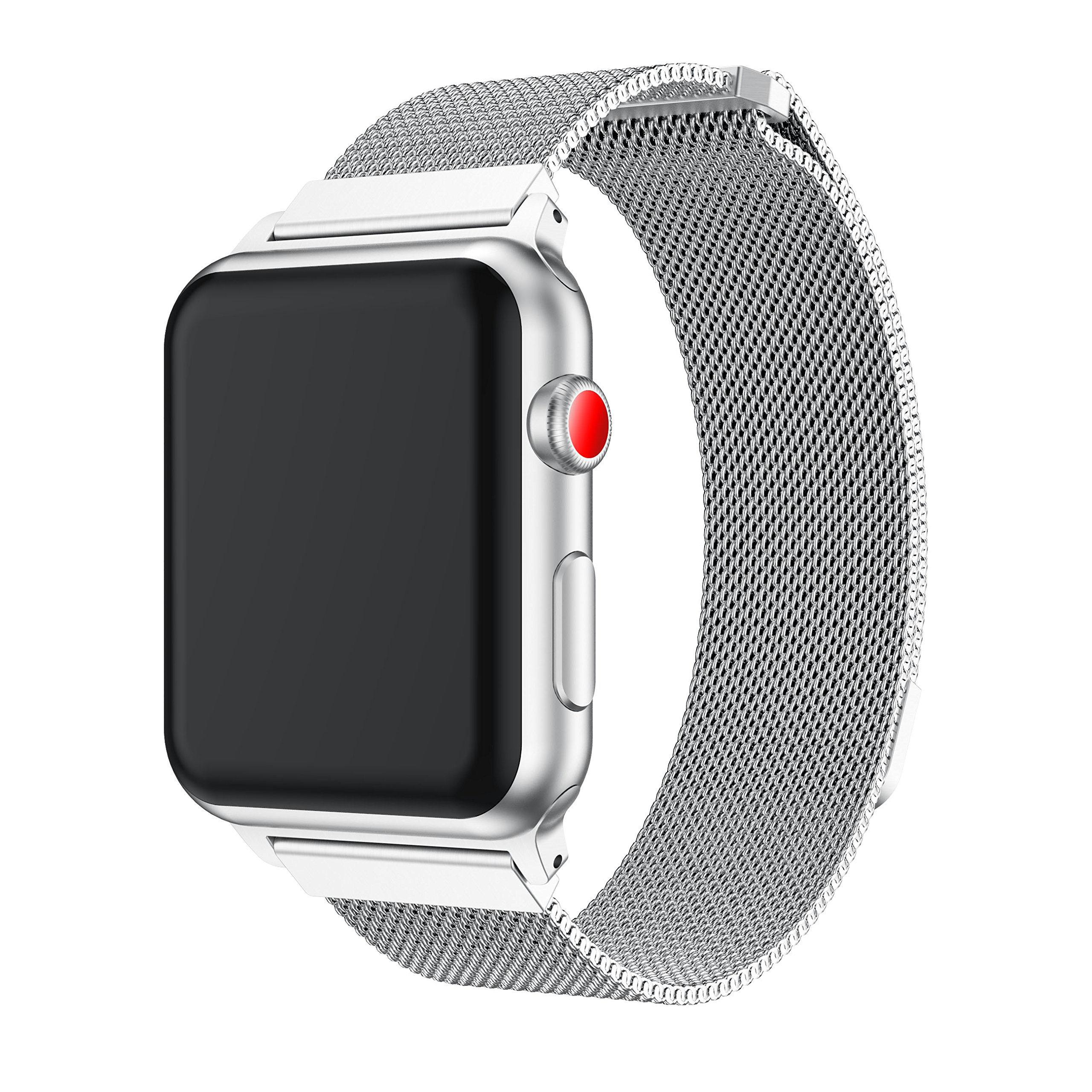 YaSpark Stainless Steel Mesh Milanese Loop with Adjustable Magnetic Closure Replacement Metal iWatch Band for Apple Watch Series 2 Series 1 Nike+ Sport and Edition 38mm/42mm (sliver, 38mm)