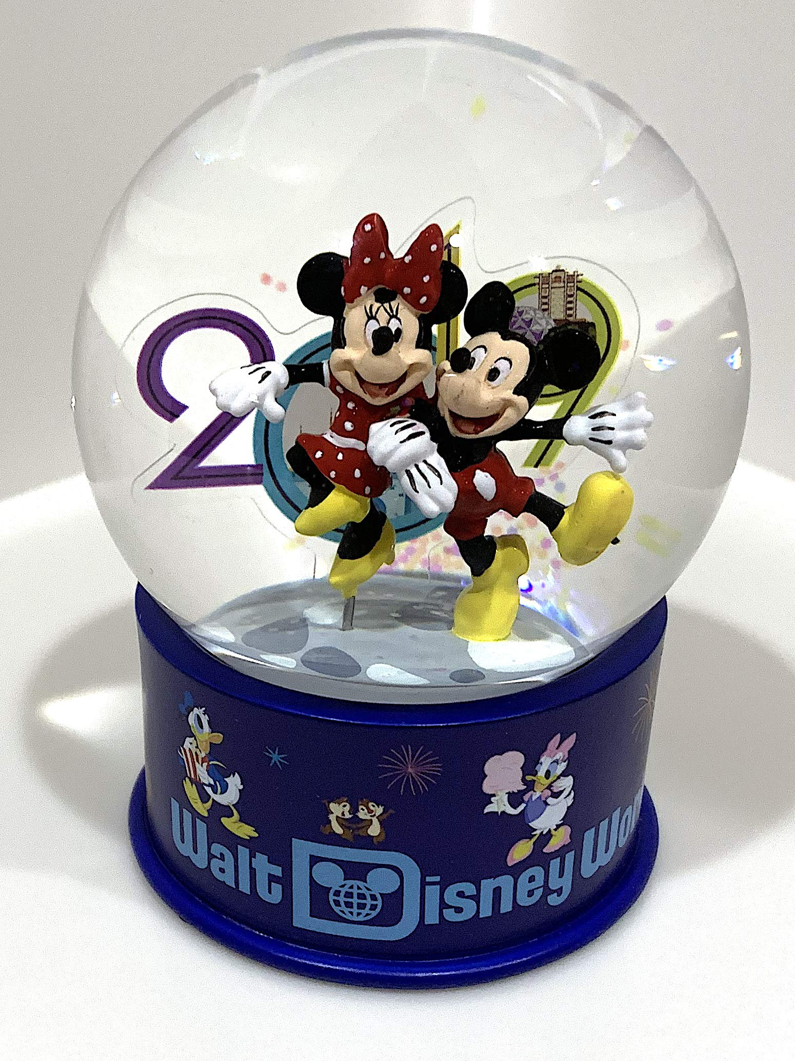 Walt Disney World 2019 Mickey Minnie Mouse Glass Snowglobe by Disney Parks