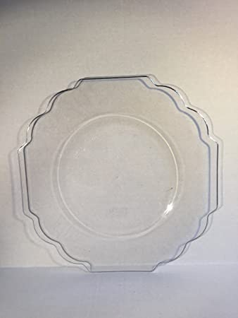 Collection Baroque Premium Heavyweight Plastic 10.75u0026quot; Dinner Plates Set of 10 Clear Color & Amazon.com | Collection Baroque Premium Heavyweight Plastic 10.75 ...