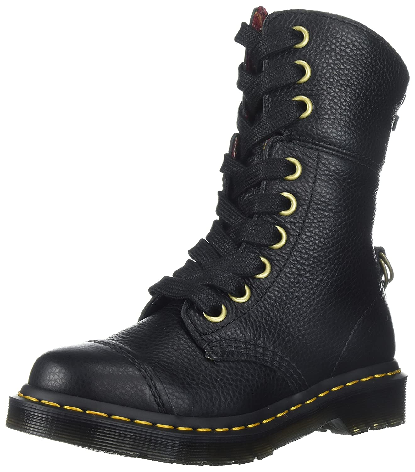 Dr. Martens Women's Aimilita Black Aunt Sally Leather Fashion Boot B071RRDGWT 6 Medium UK (8 US)|Black