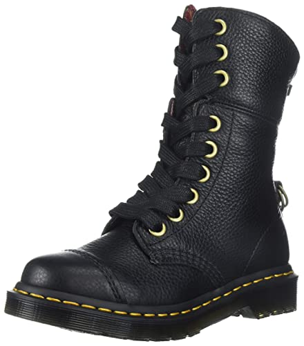 authentic quality classic style lowest price Dr. Martens Women's Aimilita Black Aunt Sally Leather Fashion Boot