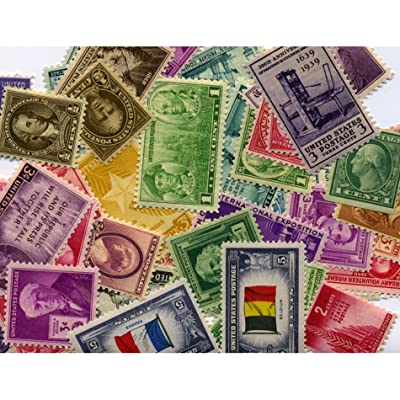 American Coin Treasures 40 U.S. Postage Stamps from The 1910's, 1920's, 1930's and 1940's: Toys & Games