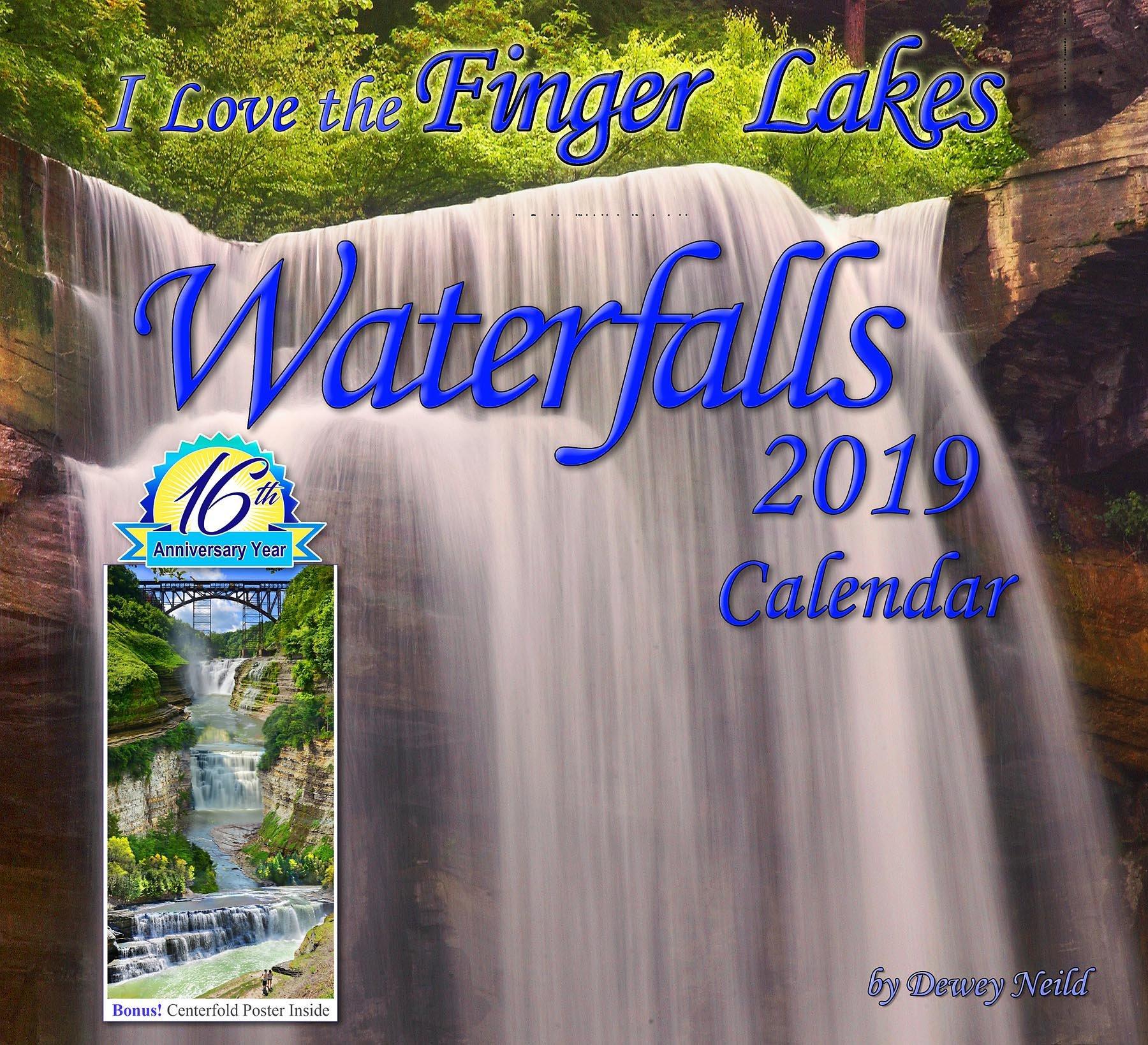 Finger Lakes Waterfalls 2019 Calendar