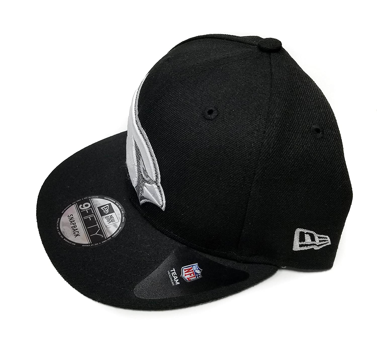 Amazon.com : New Era Arizona Cardinals 9Fifty Black & White Logo Adjustable Snapback Hat NFL : Sports & Outdoors
