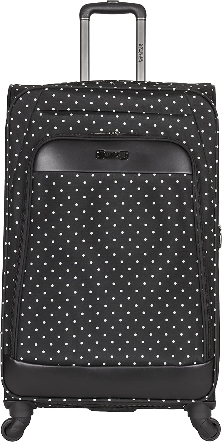 Kenneth Cole Reaction Dot Matrix 28 Lightweight Expandable 4-Wheel Spinner Checked Luggage, Black