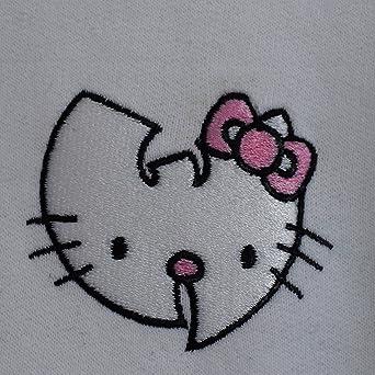 004b690d1 Actual Fact WU x Hello Kitty Hip Hop WU Tang Clan Japanese Cartoon White  Hoodie Hooded White Sweatshirt (Small-XXLarge): Amazon.co.uk: Clothing