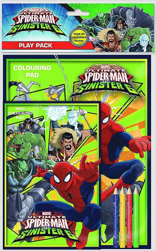 Pack de cuaderno y lápices para colorear de Ultimate Spiderman vs ...