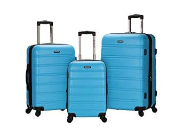Amazon.com | Rockland Luggage Melbourne 3 Piece Set, Turquoise ...