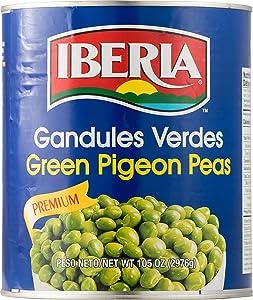 Iberia Green Pigeon Peas, 105 Oz