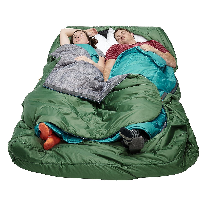 R/égulier Vert Fonc/é Taille Kelty Tru.Comfort Doublewide Sac de Couchage Mixte Adulte