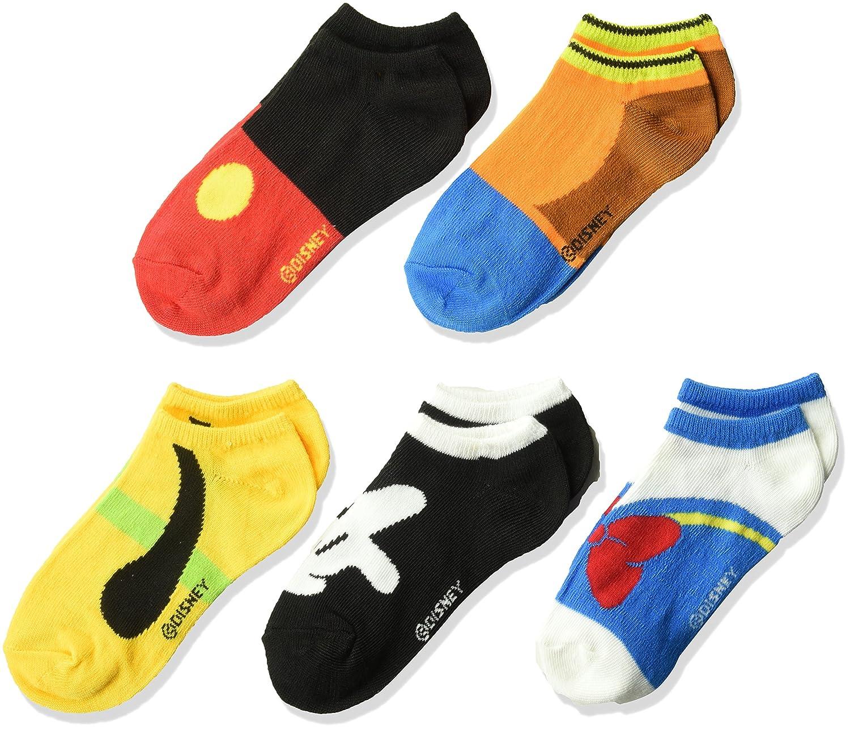Disney boys Disney Boys' Mickey Mouse 5 Pack No Show Socks 41590138G20AZ