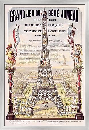 Grand Jeu du Bebe Jumeau Vintage Poster France c. 1889 (24x36 Giclee Art Print