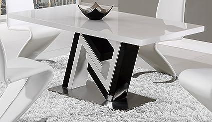 Amazoncom Global Furniture Dining Table White Black Kitchen