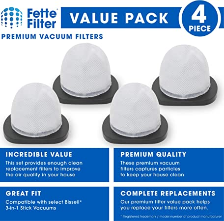 Fette Filter Co... Vacuum Filter Compatible with Bissell 3-in-1 Stick Vacuums