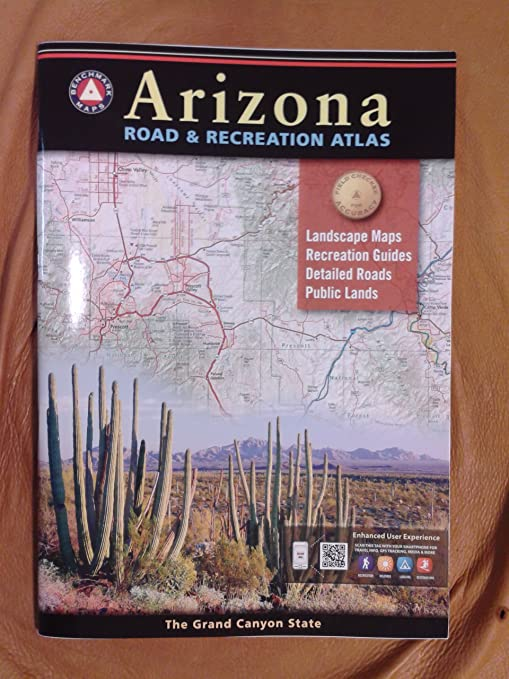 Map Of Arizona I40.Amazon Com Benchmark Maps Arizona Road Recreation Atlas Sports