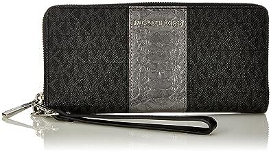 2e583a910d8 Michael Kors Signature Travel Continental Wallet - Black - 32F7SF6Z4B-001