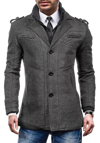 Just Boy 8311 Gris XXL [4D4] Hombre Multipurpose Abrigo con Gran Cuello y Práctico Bolsillos: Amazon.es: Ropa y accesorios