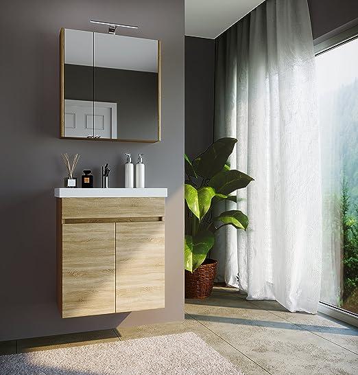 Planetmobel Waschtisch Spiegelschrank Badmobel Set 63cm Fur