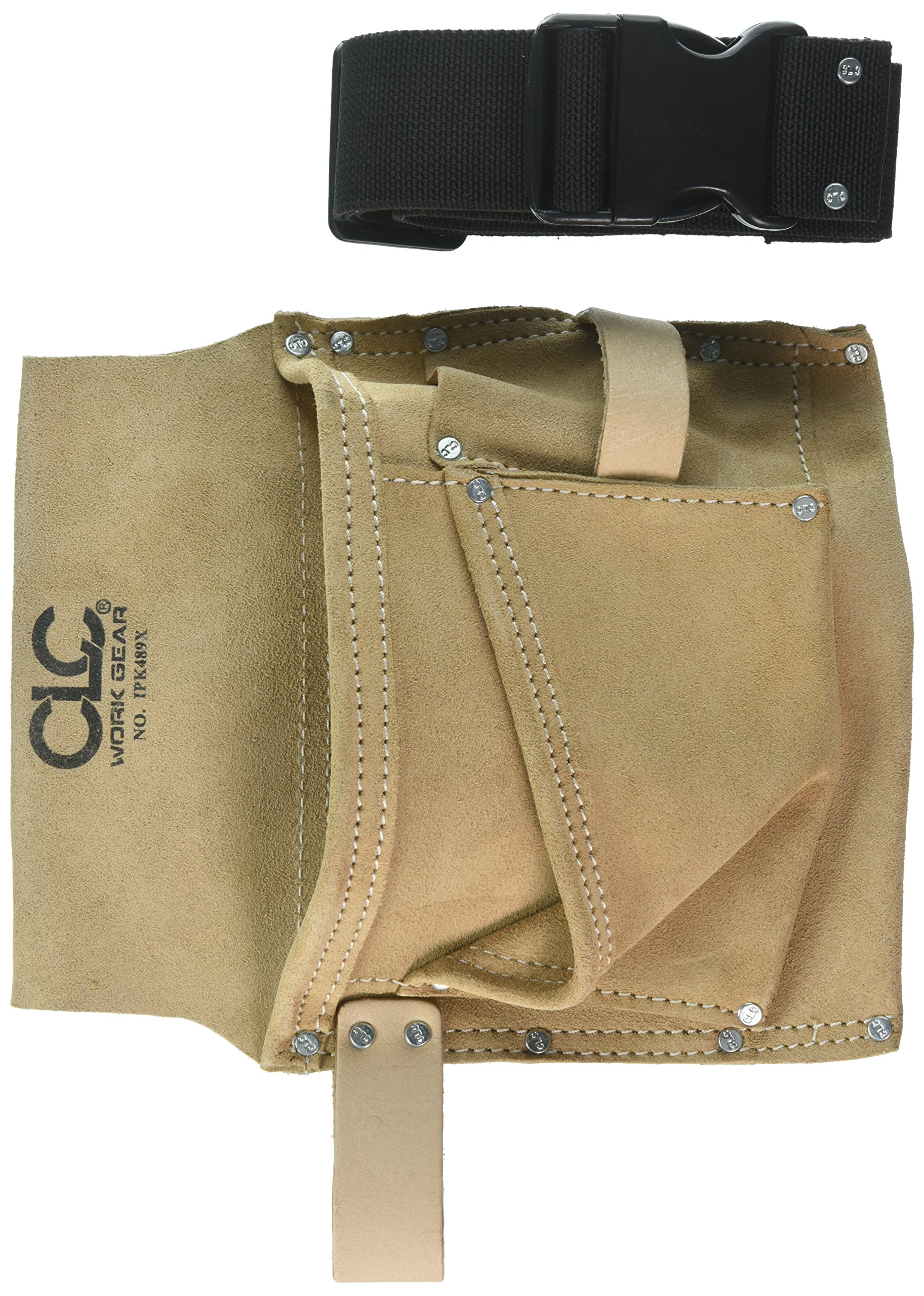 CLC Work Gear IP489X 3 Pocket Nail & Tool Bag With Polyweb Belt by Custom Leathercraft (Image #1)