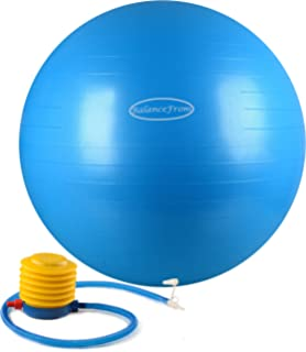 balancefrom antiburst and slip resistant fitness ball with pump