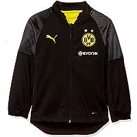 PUMA BVB Stadium Poly Jacket Jr with Sponsor