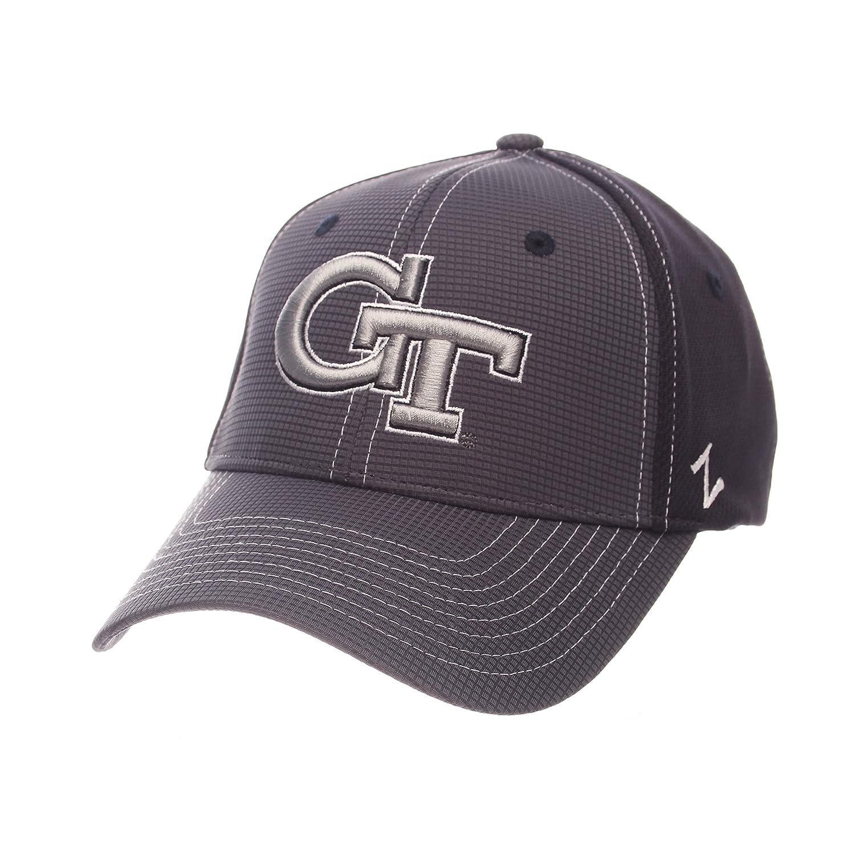 Gray//Team Color NCAA Zephyr Georgia Tech Mens Grid Hat Medium//Large