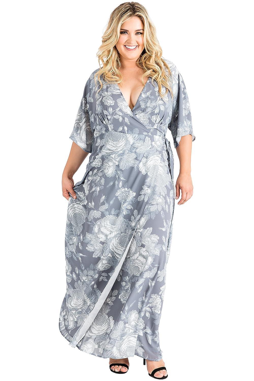 85e157aa4 Gray Chiffon Maxi Dress Plus Size | Saddha