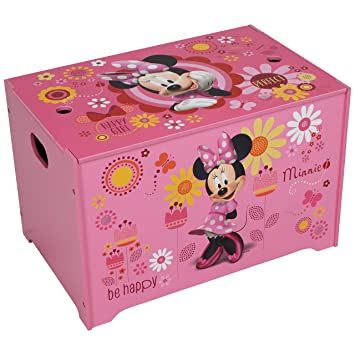 Genial Disney Minnie Mouse Toy Box Toy Chest Storage Box For Toys Books Clothes