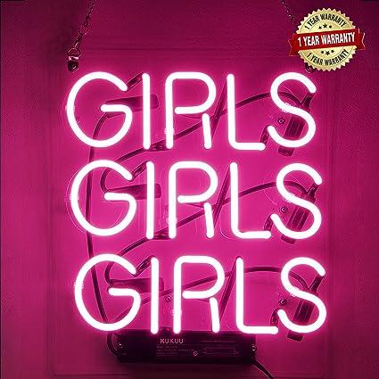Neon Signs Girl Girls Girls Girls Neon Signs Girl Wall Decor Neon