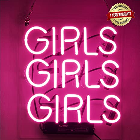 Neon Signs Girl Girls Girls Girls Neon Signs Girl Wall Decor Neon Light  Sign Led Sign for Bedroom Neon Words Cool Art Neon Sign Cute Neon Lamps  Home