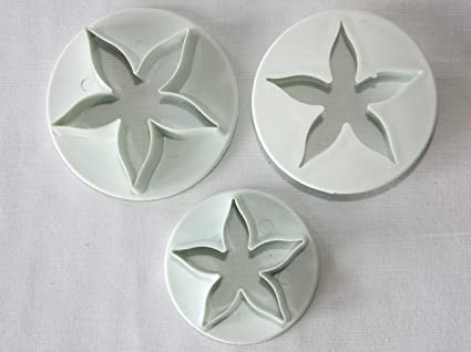 Flower Cutters, Set of 3 Large Calyx Cutters, Sugarcraft