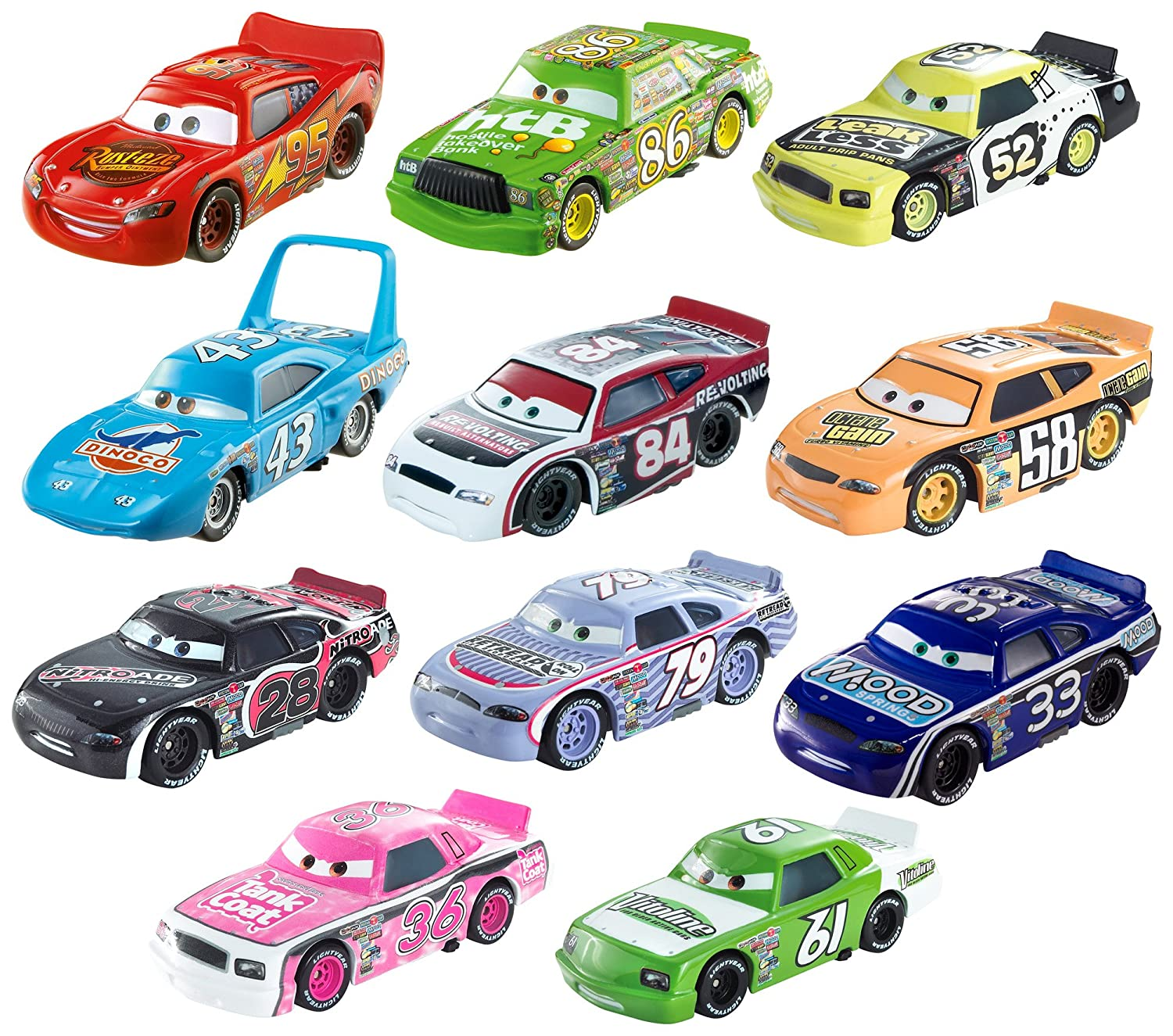 Mattel Dot-Com Piston Cup Collection DKF56