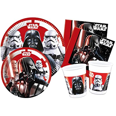 "'Ciao y4491 Kit Party Tabla Star Wars""Final Battle para 24 Personas, Negro/Blanco: Juguetes y juegos"
