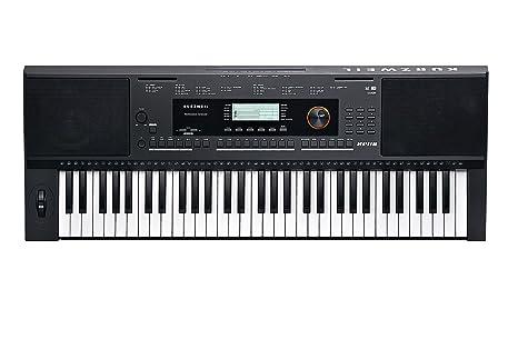 Kurzweil Home KP110 Teclado portátil de 61 notas con asistente de rendimiento (KP-110