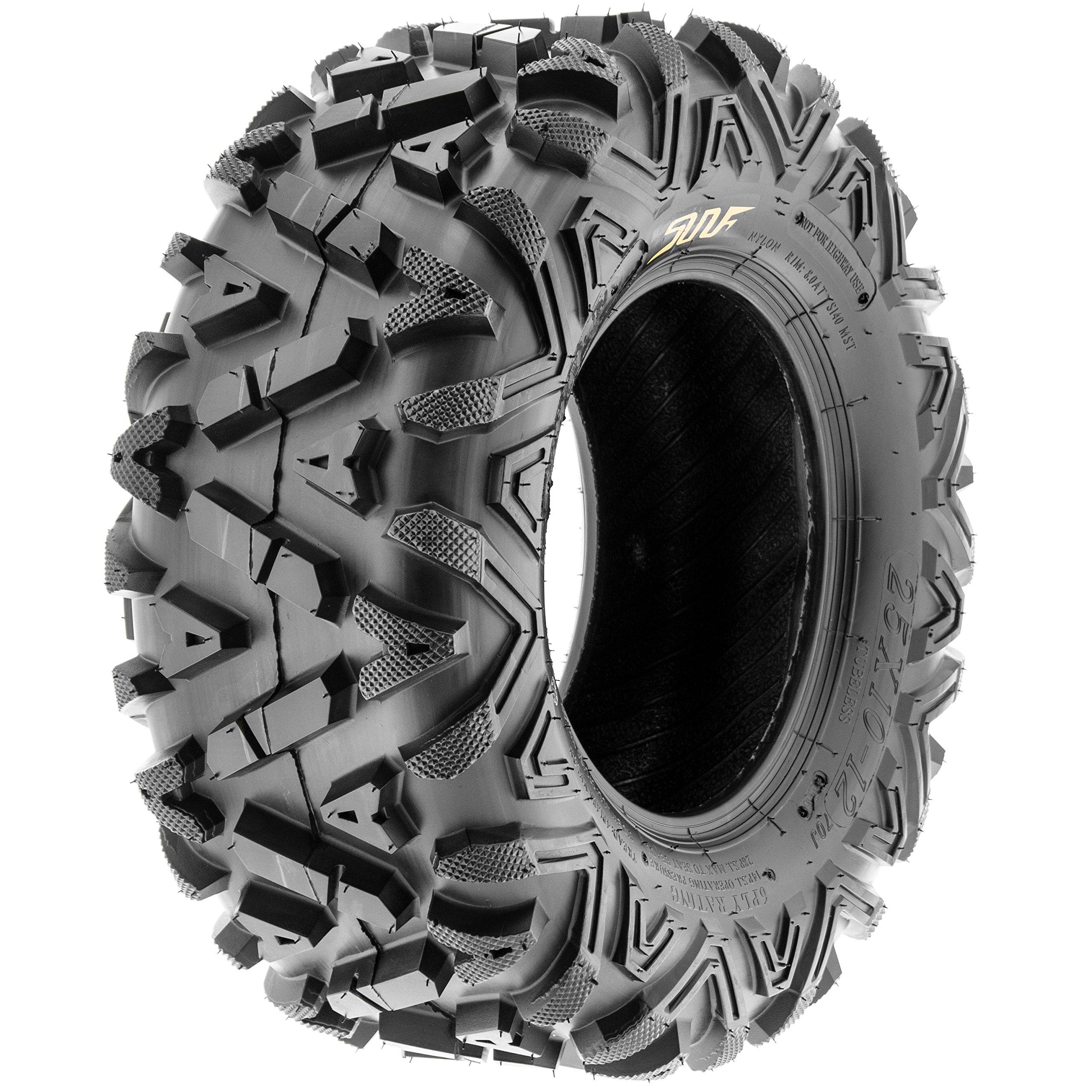 SunF A033 Power.I AT 25x12-9 ATV UTV Tire, All-Terrain Off-Road, 6 PR, Tubeless