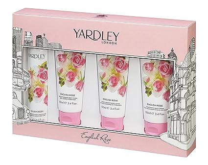 Yardley Londres Gift Set contiene Inglés rosa body spray 75 ml y Body Wash/loción
