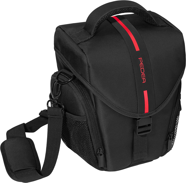 PEDEA GmbH 65060315 - Bolso para cámara SLR, tamaño L, Color Rojo ...